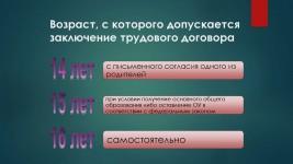 Прокуратура Богатовского района  разъясняет:  «Возраст, с которого допускается заключение трудового договора»